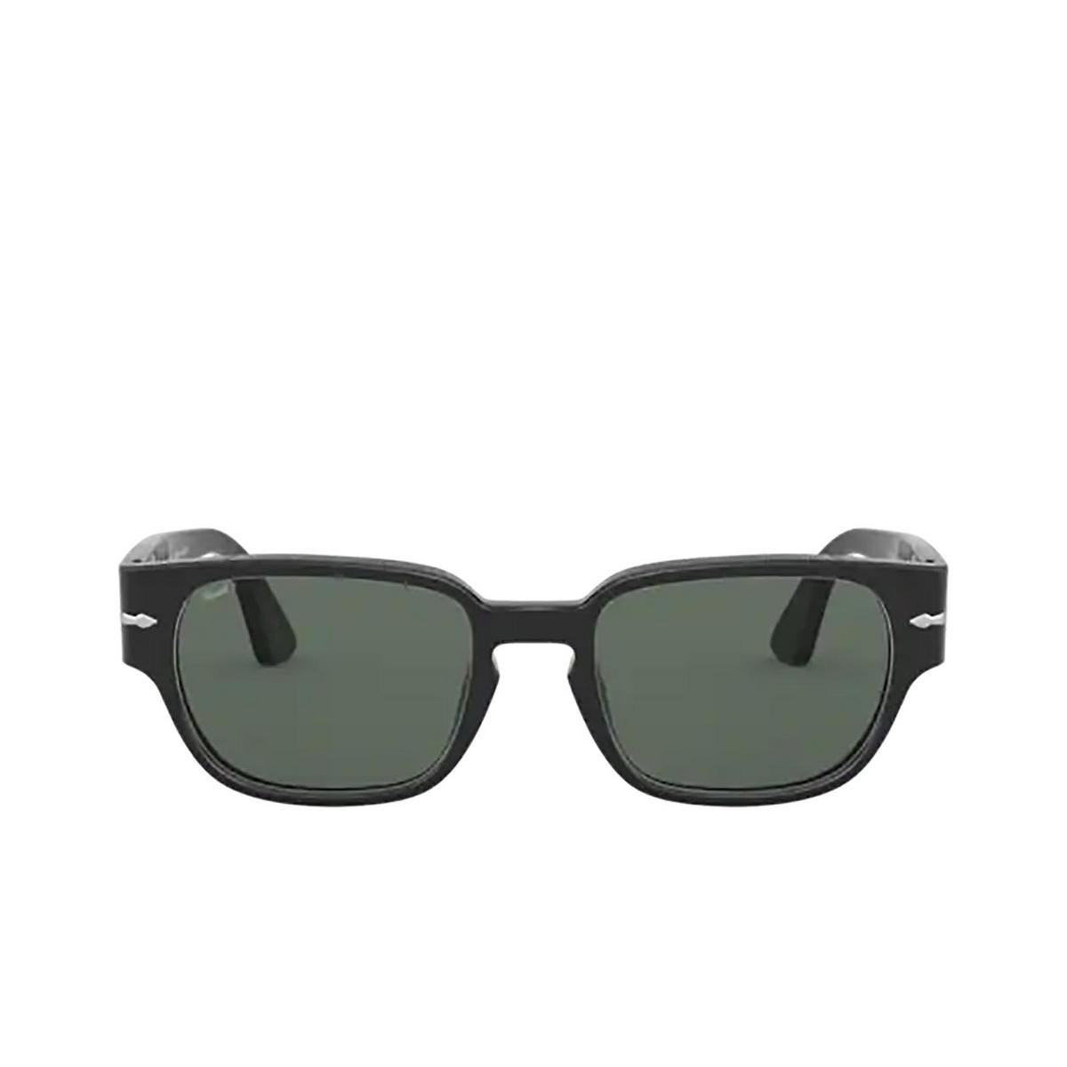Persol® Rectangle Sunglasses: PO3245S color Black 95/58 - front view.