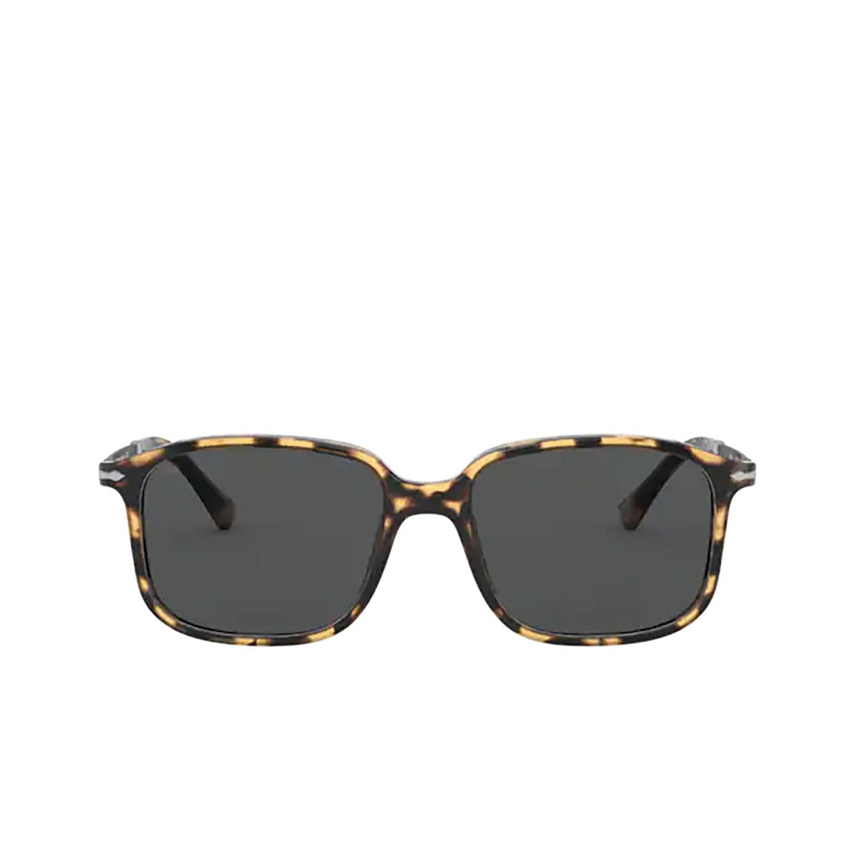 Persol® Rectangle Sunglasses: PO3246S color Brown & Beige Tortoise 1056B1 - front view.
