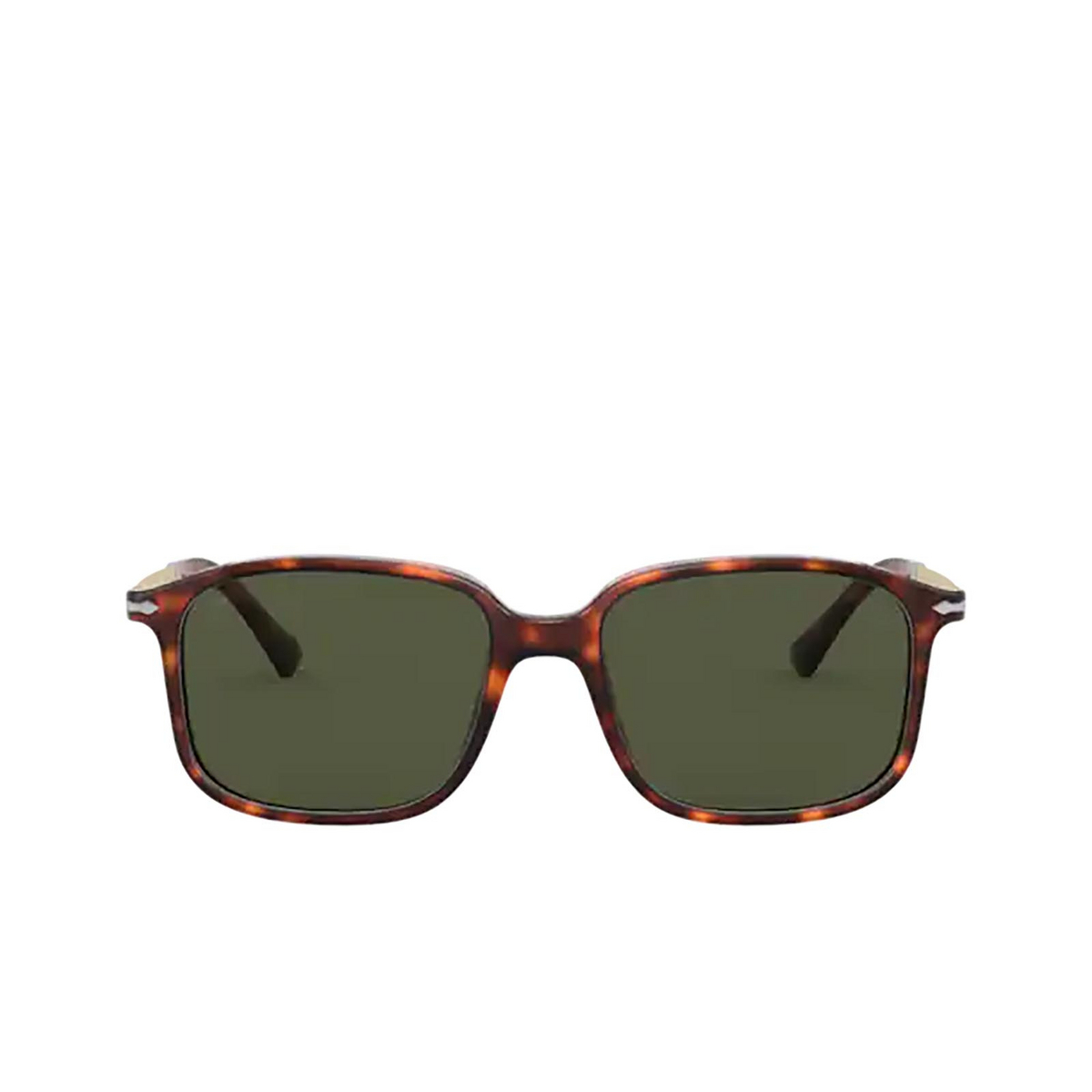 Persol® Rectangle Sunglasses: PO3246S color Havana 24/31 - front view.