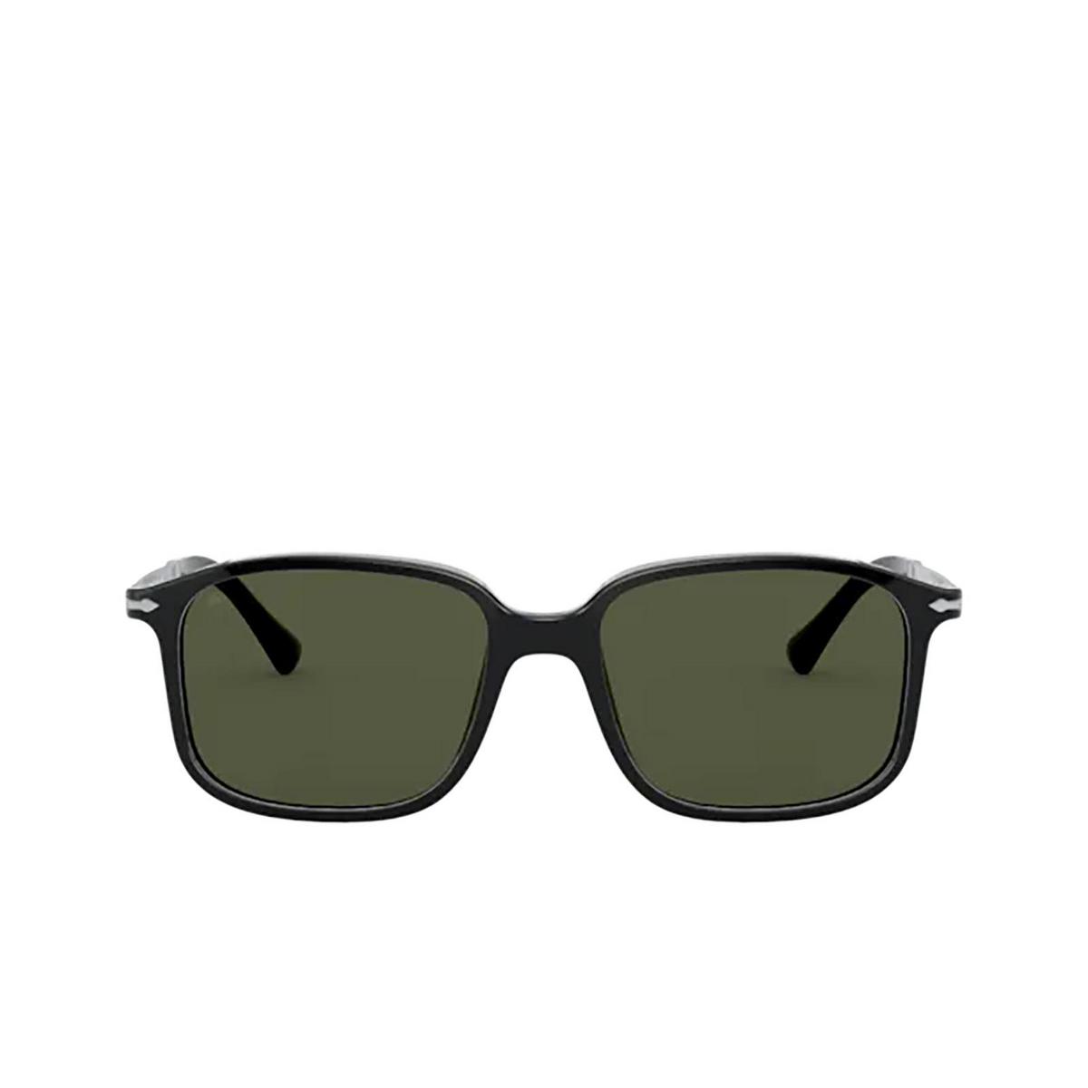 Persol® Rectangle Sunglasses: PO3246S color Black 95/31 - front view.