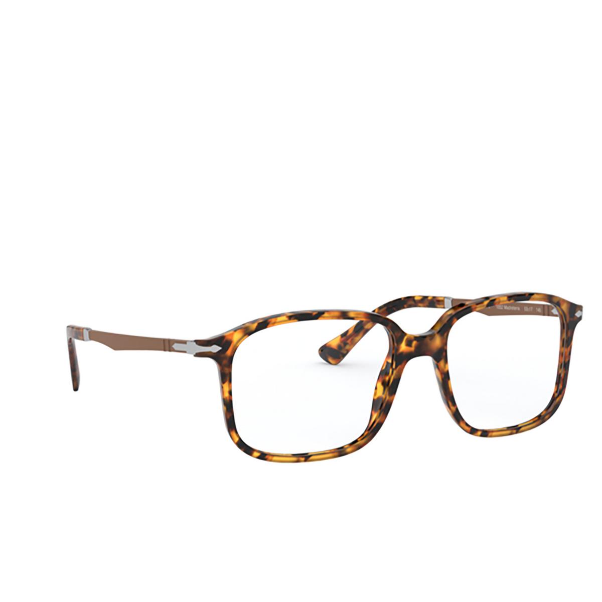 Persol® Rectangle Eyeglasses: PO3246V color Madreterra 1052 - three-quarters view.