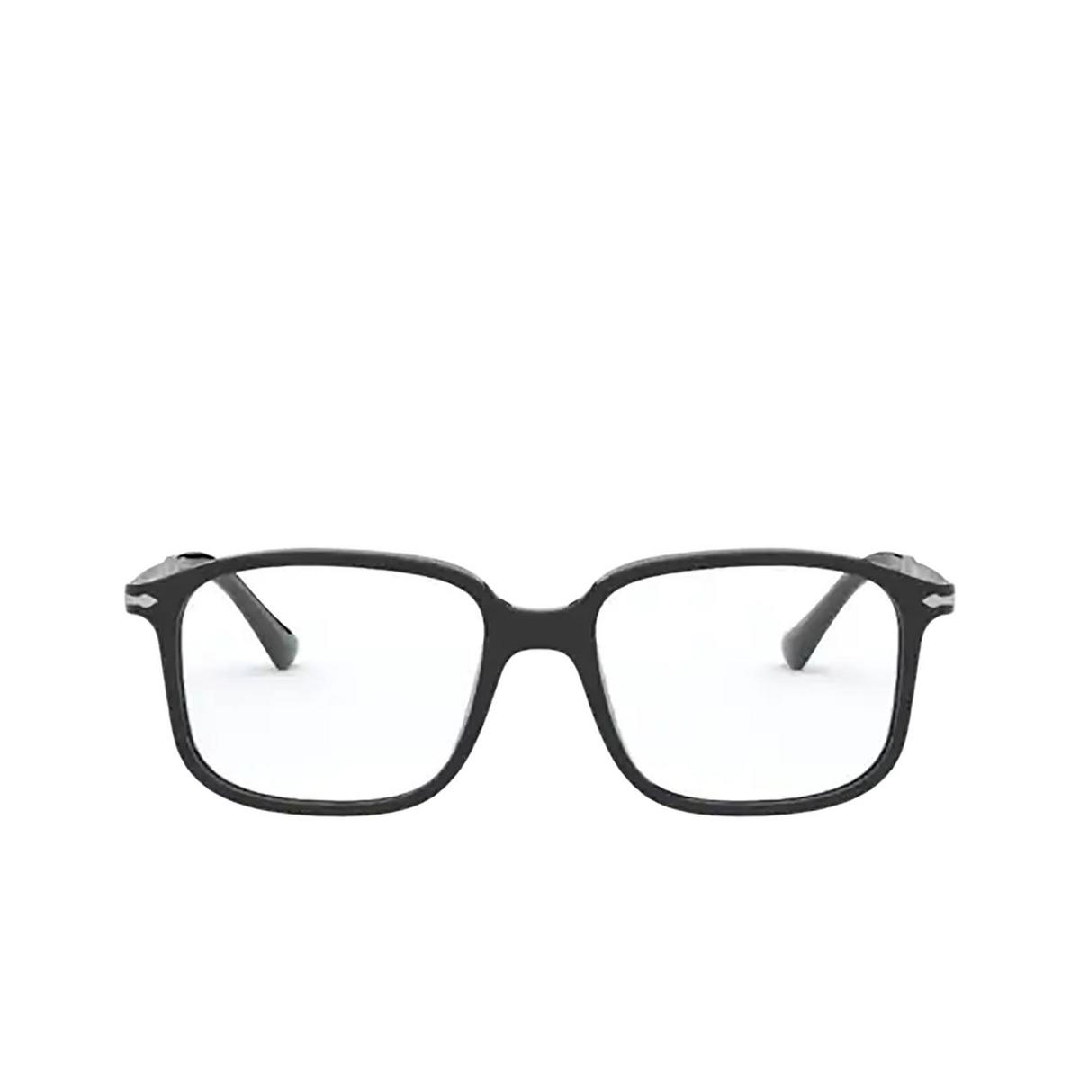 Persol® Rectangle Eyeglasses: PO3246V color Black 95 - front view.