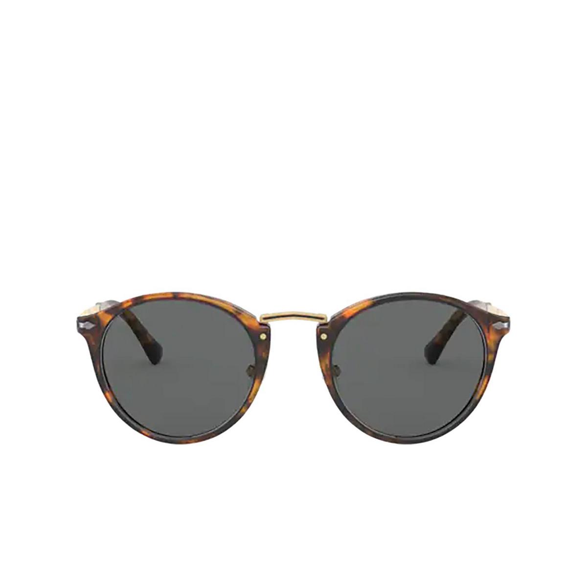 Persol® Round Sunglasses: PO3248S color Coffee 108/B1.