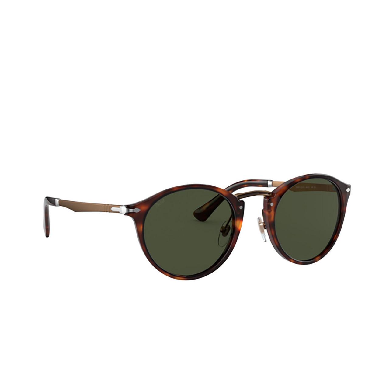 Persol® Round Sunglasses: PO3248S color Havana 24/31.