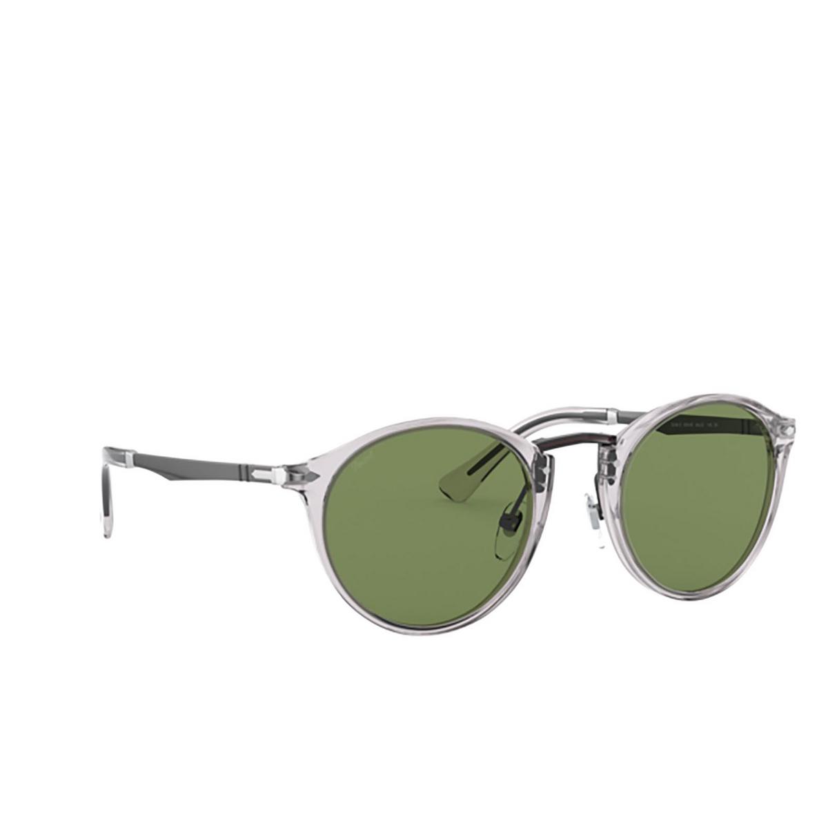Persol® Round Sunglasses: PO3248S color Transparent Grey 309/4E.