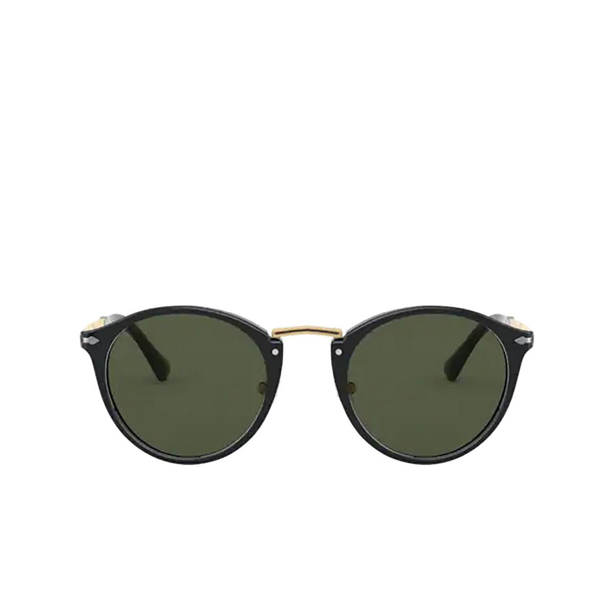 Persol® Round Sunglasses: PO3248S color Black 95/31.