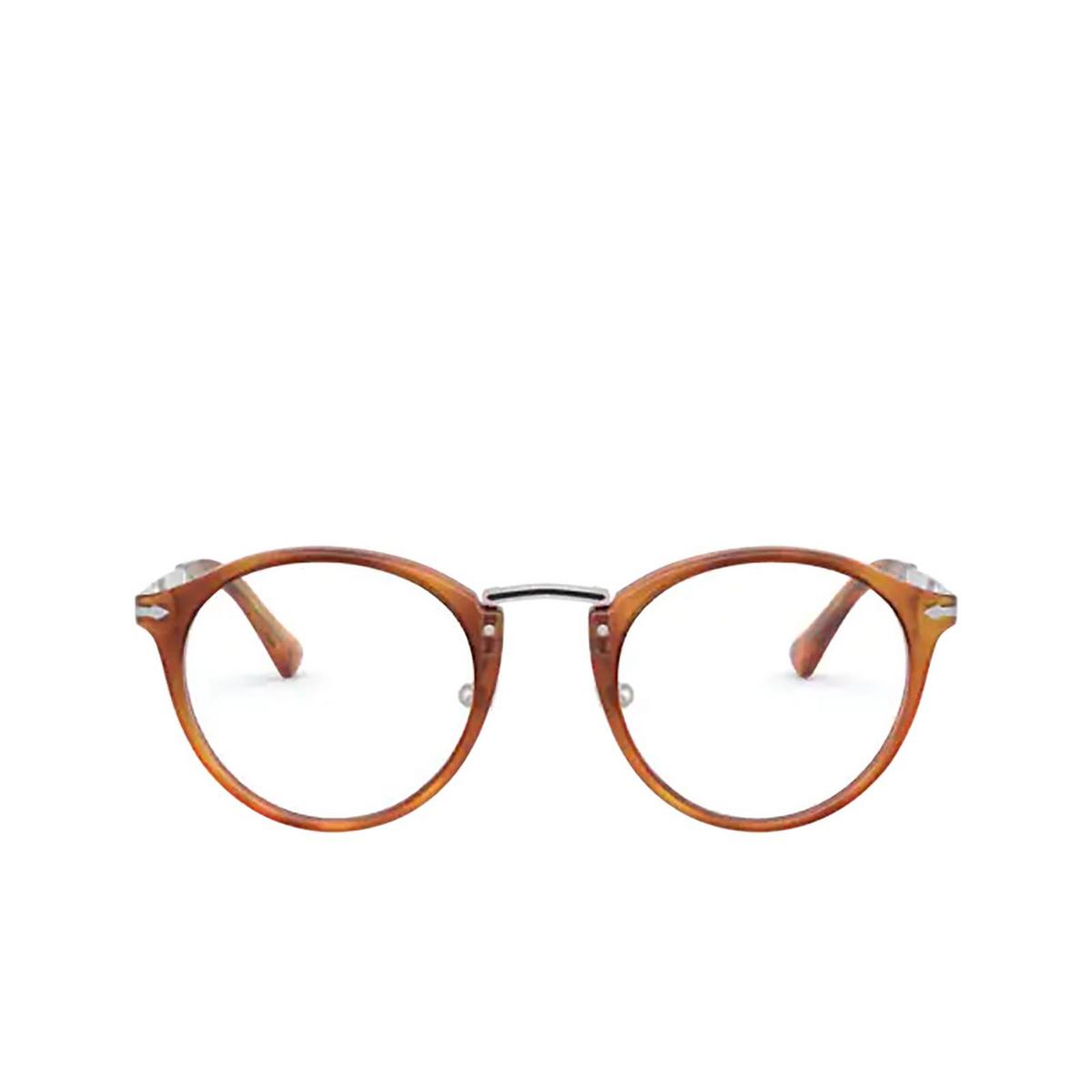 Persol® Round Eyeglasses: PO3248V color Terra Di Siena 96 - front view.