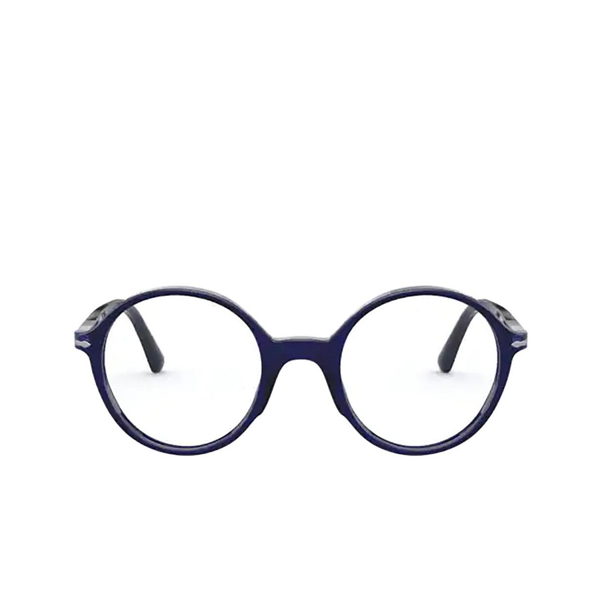 Persol® Round Eyeglasses: PO3249V color Cobalto 181 - front view.