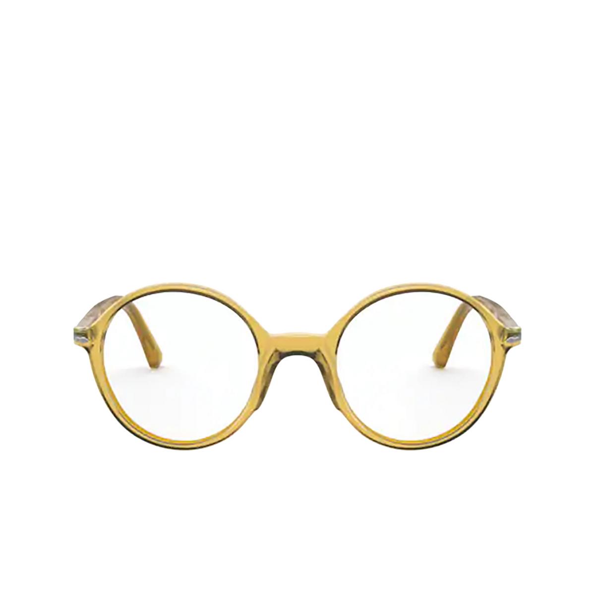 Persol® Round Eyeglasses: PO3249V color Honey 204.