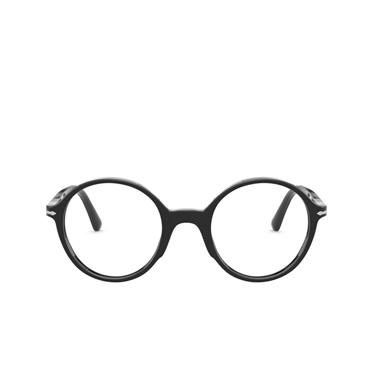 Persol® Round Eyeglasses: PO3249V color Black 95 - front view.