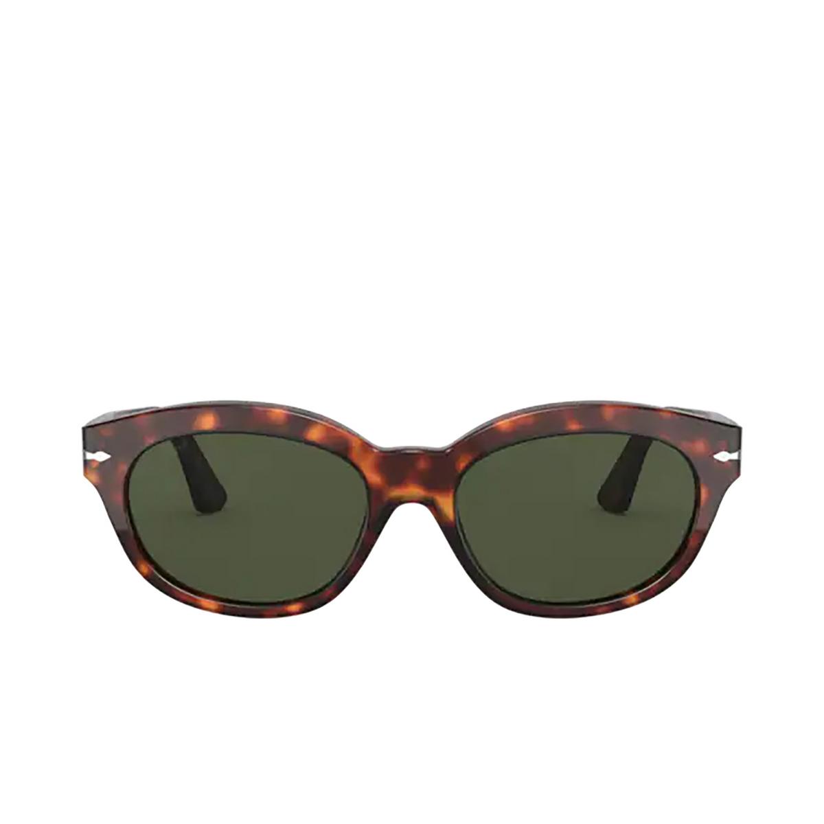 Persol® Oval Sunglasses: PO3250S color Havana 24/31 - front view.