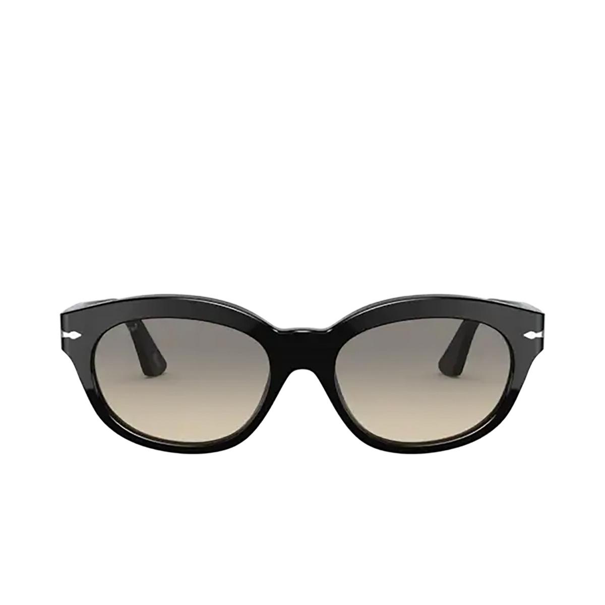 Persol® Oval Sunglasses: PO3250S color Black 95/32 - front view.