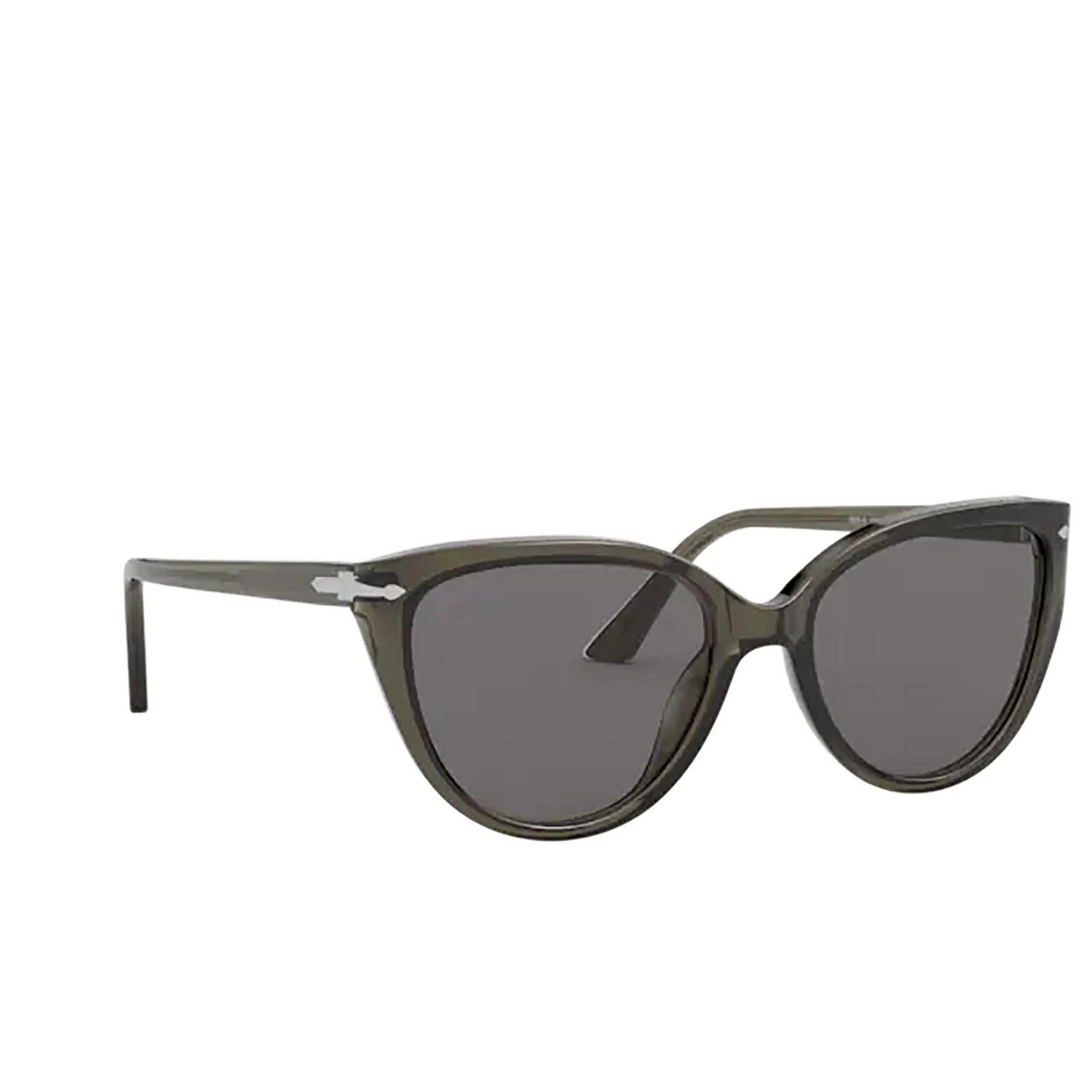 Persol® Butterfly Sunglasses: PO3251S color Opal Smoke 1103R5 - three-quarters view.