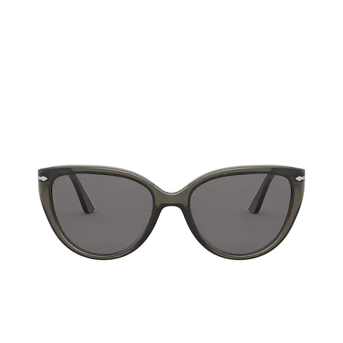Persol® Butterfly Sunglasses: PO3251S color Opal Smoke 1103R5 - front view.
