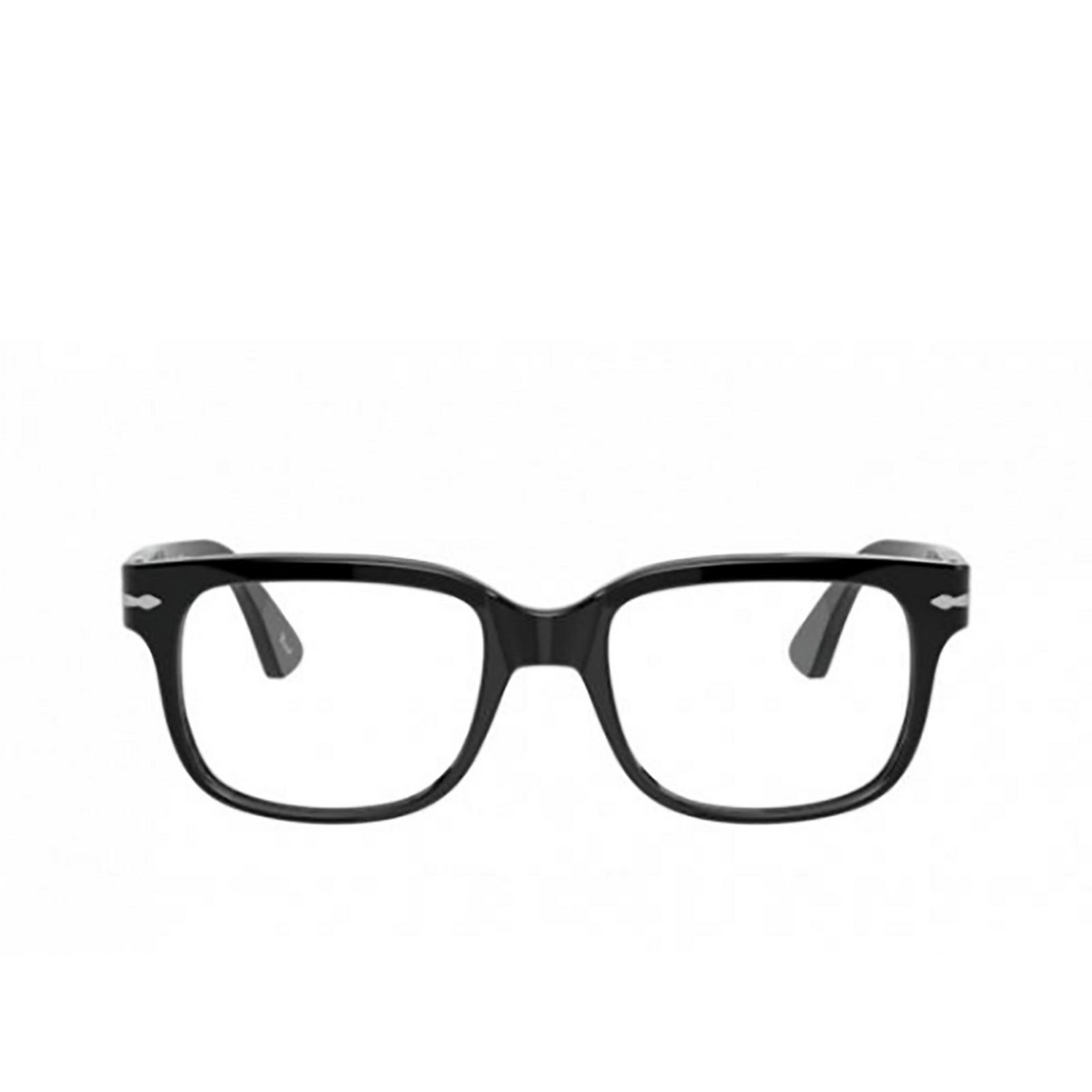 Persol® Square Eyeglasses: PO3252V color Black 95 - front view.