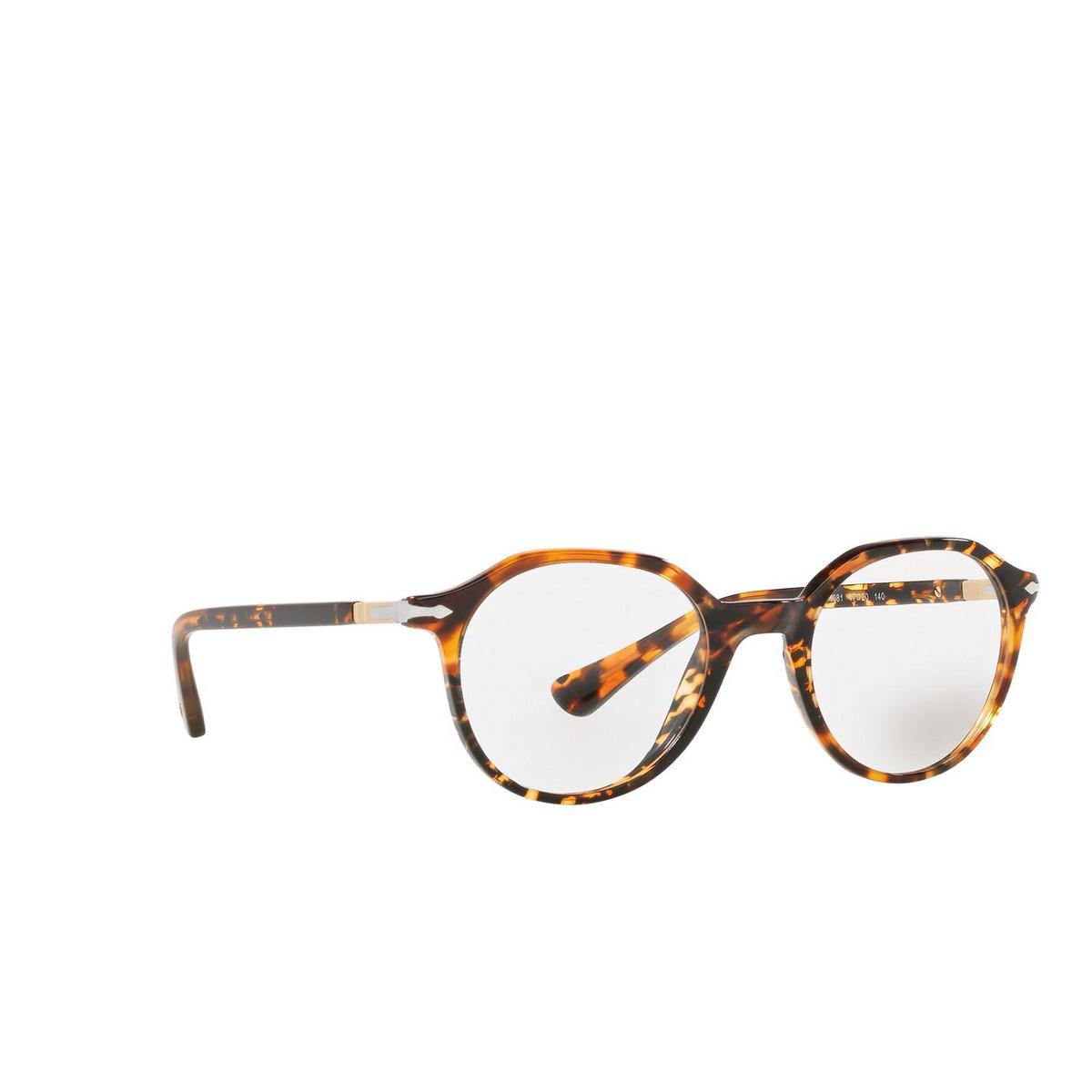 Persol® Irregular Eyeglasses: PO3253V color Tortoise Brown 1081 - three-quarters view.