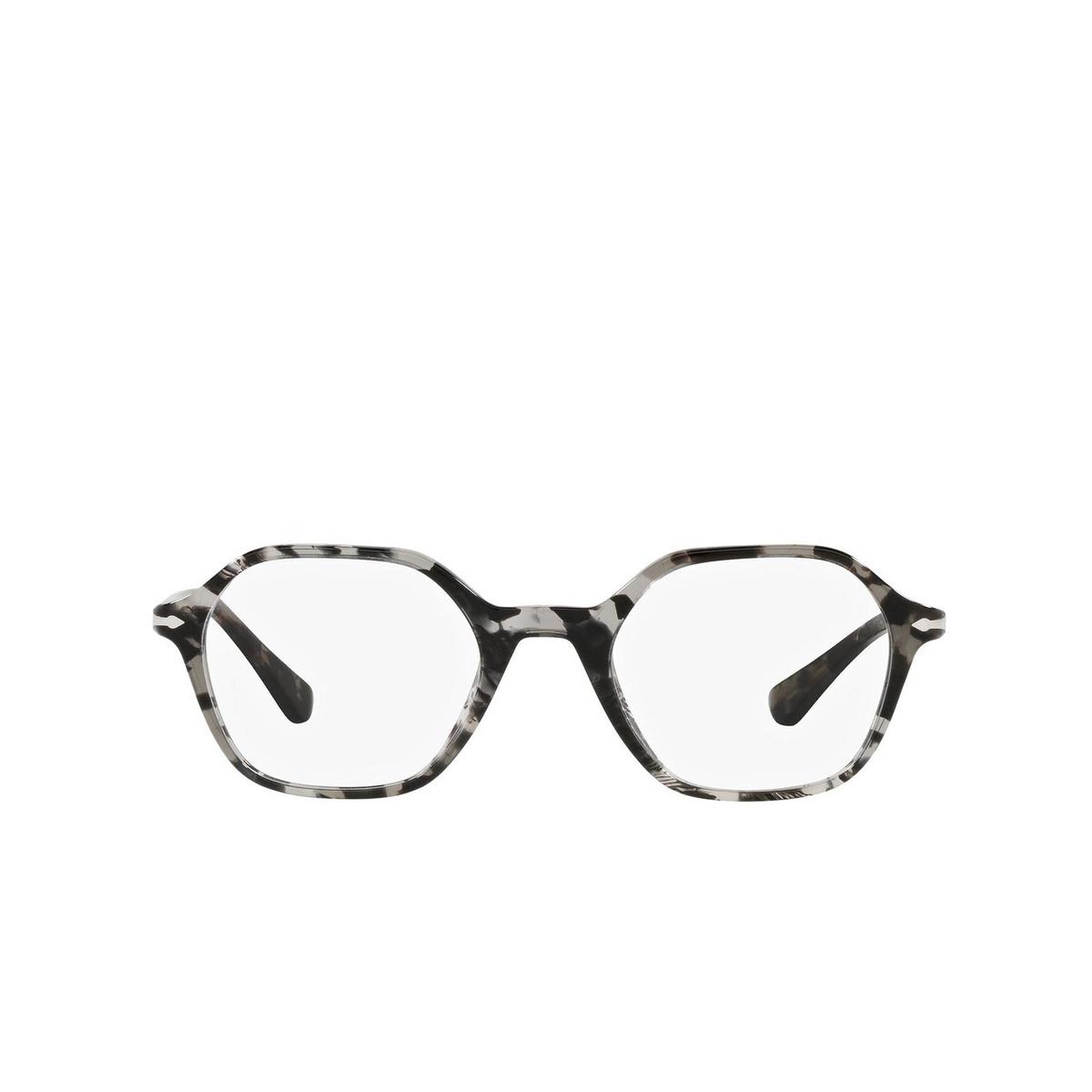 Persol® Irregular Eyeglasses: PO3254V color Tortoise Grey 1080 - front view.