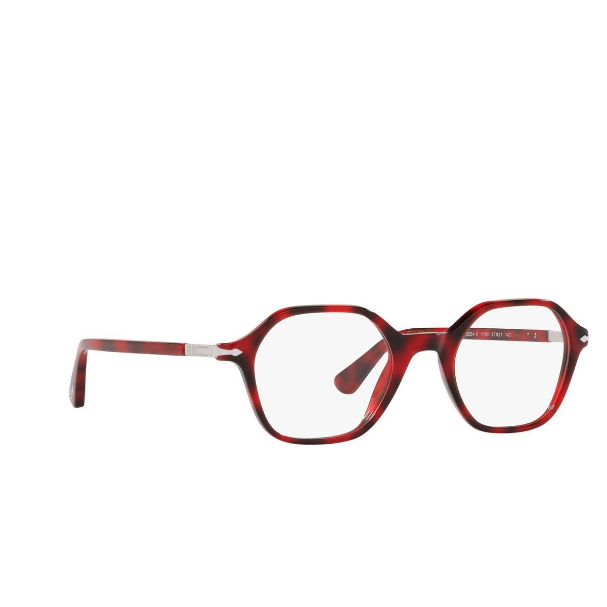 Persol® Irregular Eyeglasses: PO3254V color Red 1100 - three-quarters view.