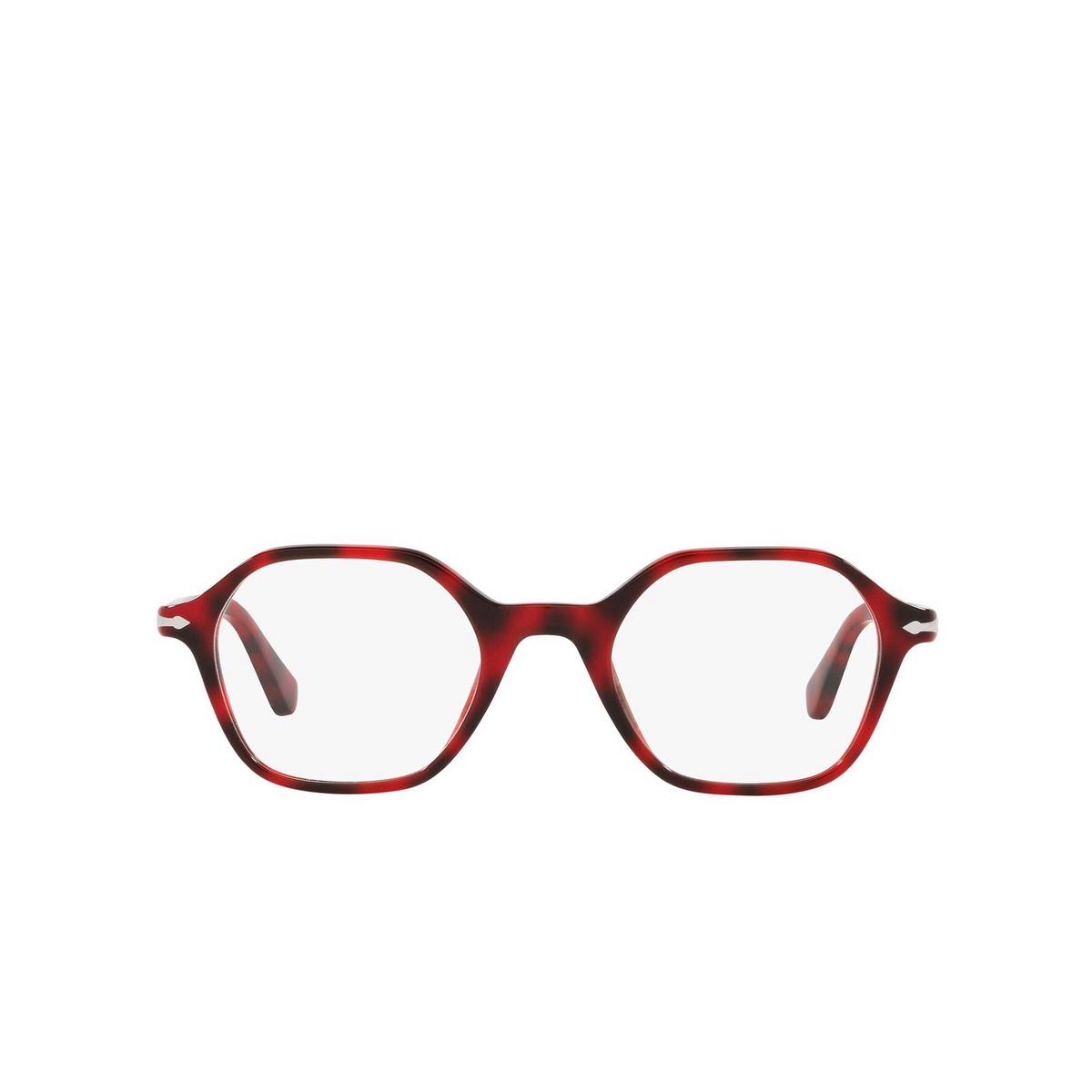 Persol® Irregular Eyeglasses: PO3254V color Red 1100 - front view.