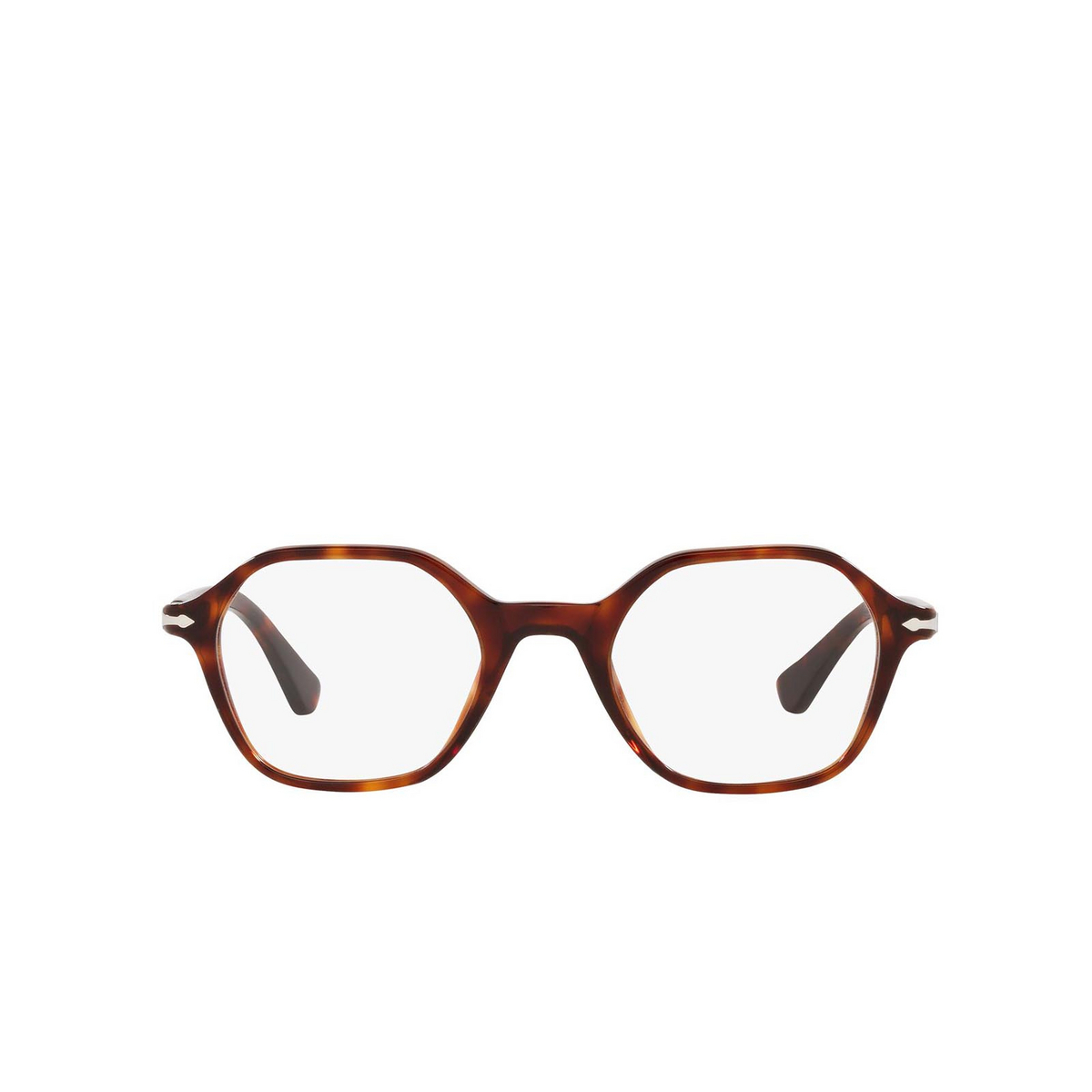 Persol® Irregular Eyeglasses: PO3254V color Havana 24 - front view.