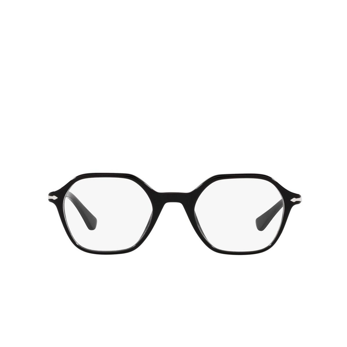Persol® Irregular Eyeglasses: PO3254V color Black 95 - front view.