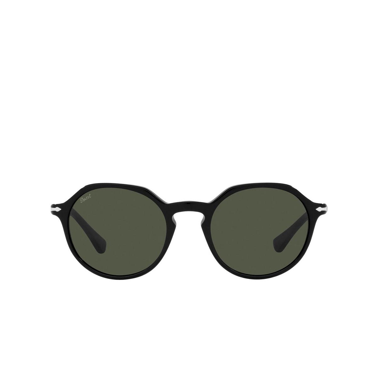 Persol® Irregular Sunglasses: PO3255S color Black 95/31 - front view.