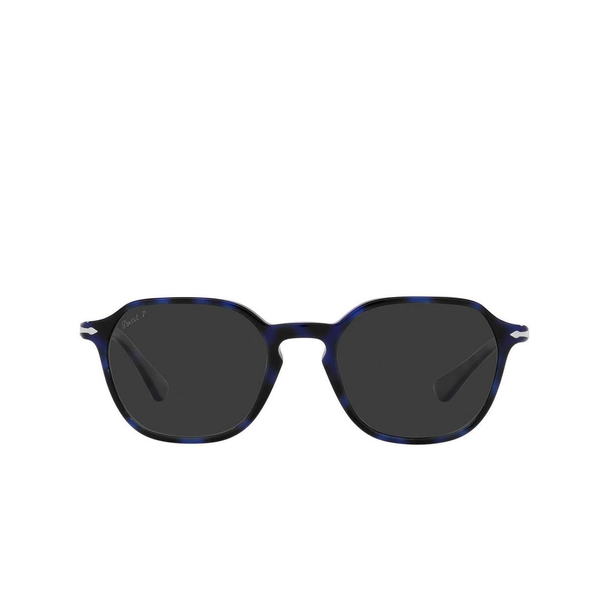 Persol® Square Sunglasses: PO3256S color Blue 109948 - front view.