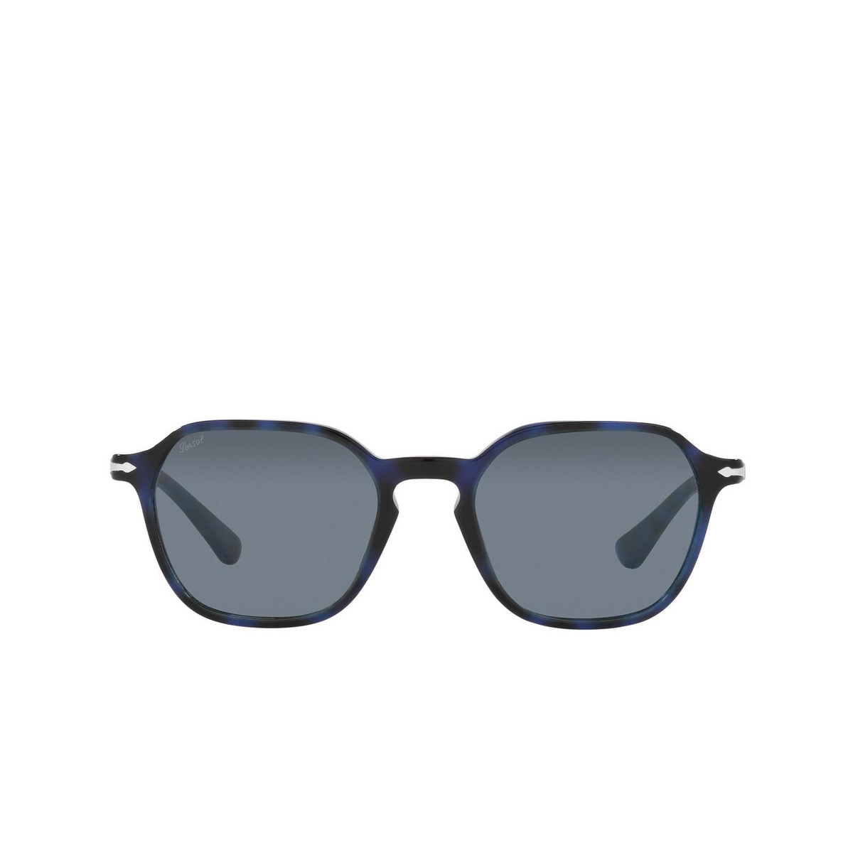 Persol® Square Sunglasses: PO3256S color Blue 109956 - front view.