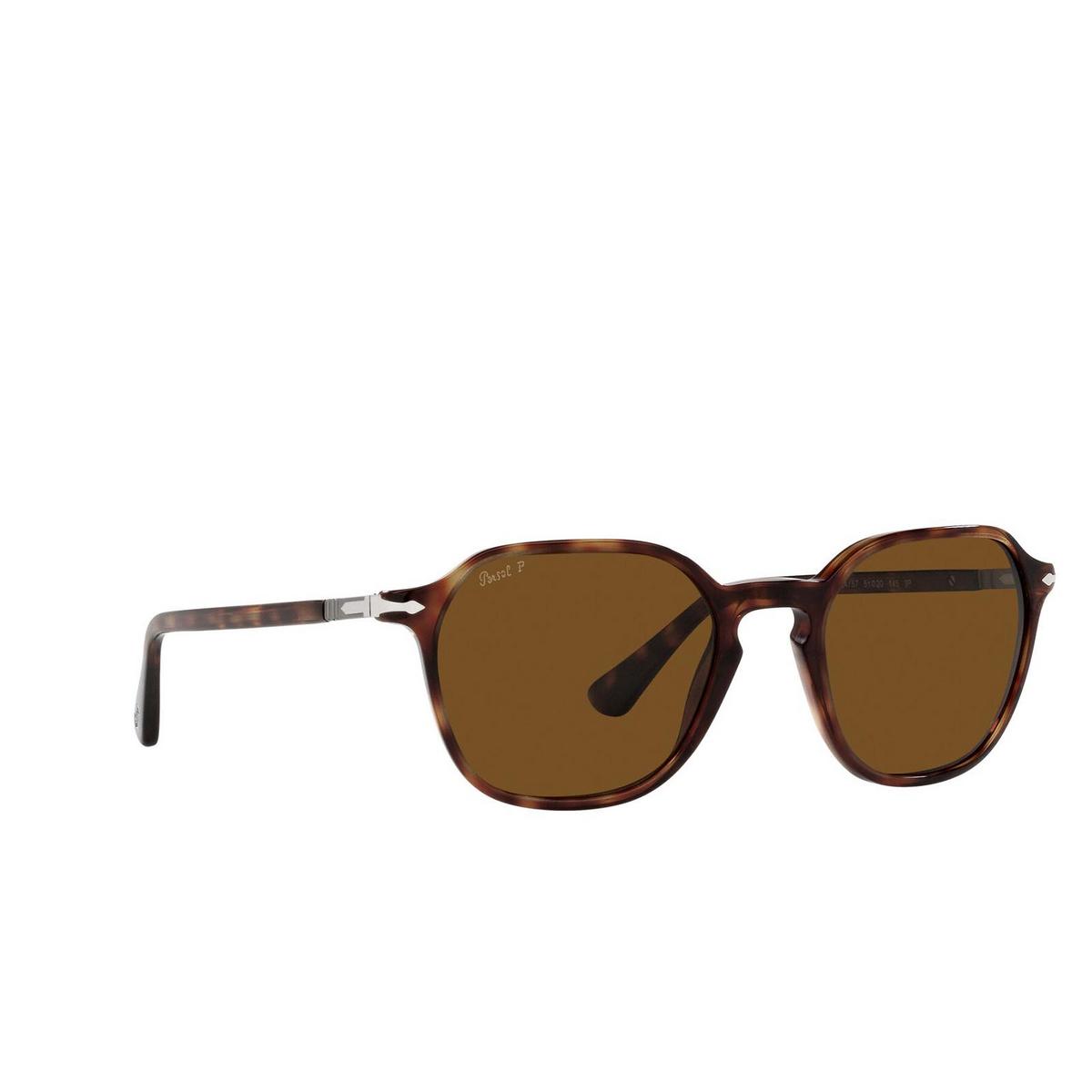 Persol® Square Sunglasses: PO3256S color Havana 24/57.