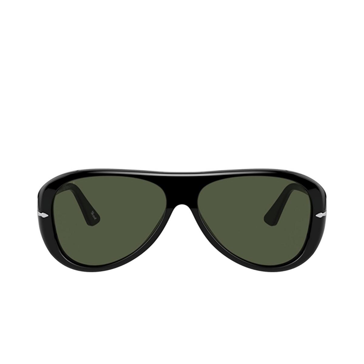 Persol® Aviator Sunglasses: PO3260S color Black 95/31 - front view.