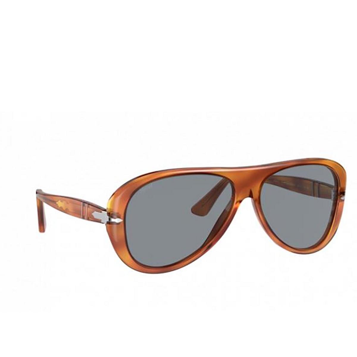 Persol® Aviator Sunglasses: PO3260S color Terra Di Siena 96/56 - three-quarters view.