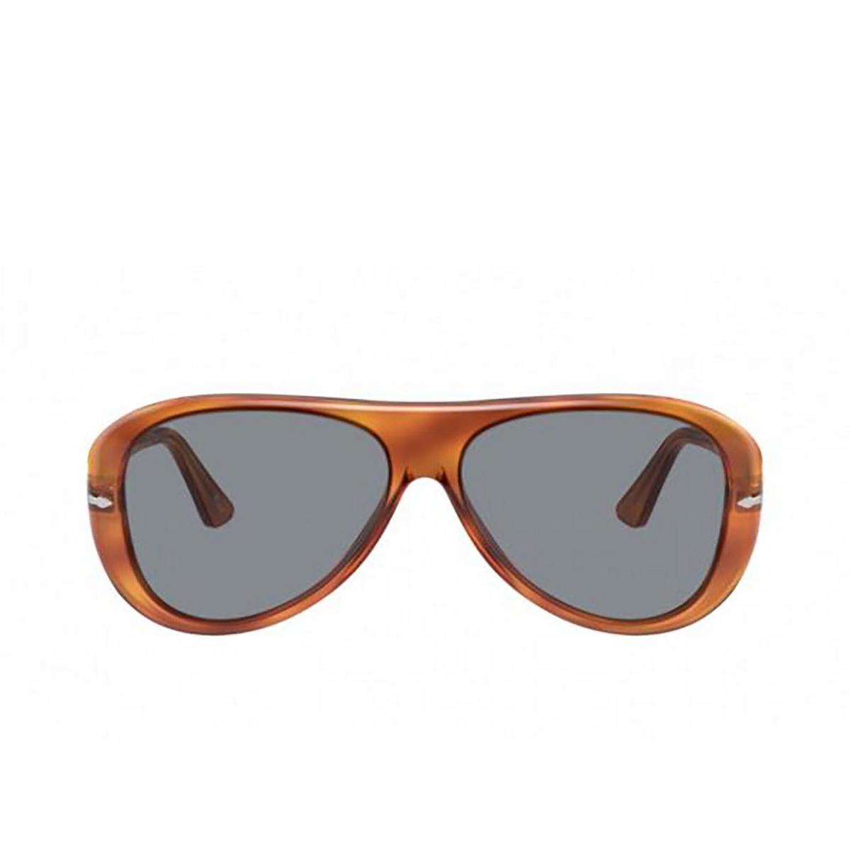 Persol® Aviator Sunglasses: PO3260S color Terra Di Siena 96/56 - front view.