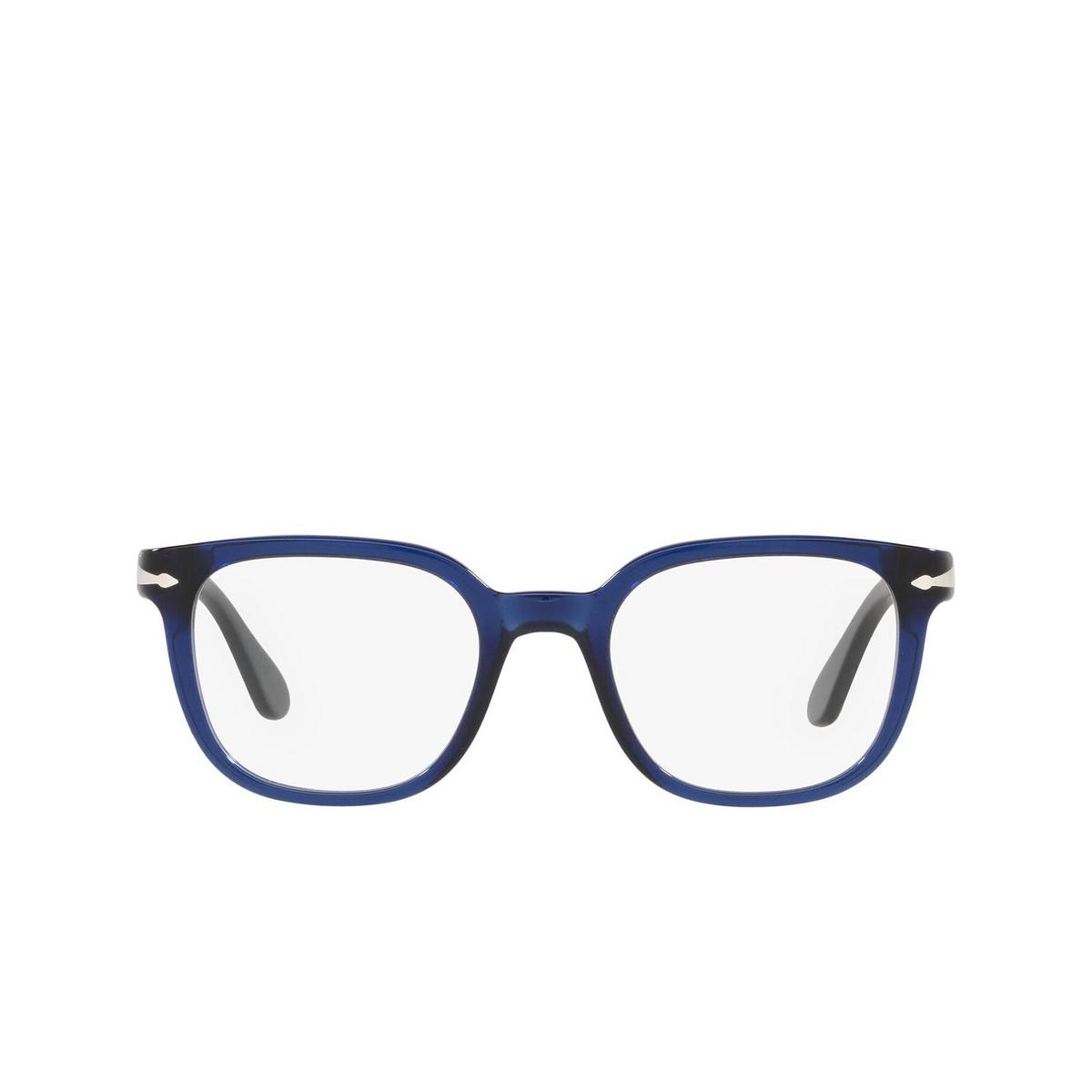 Persol® Square Eyeglasses: PO3263V color Cobalto 181 - front view.