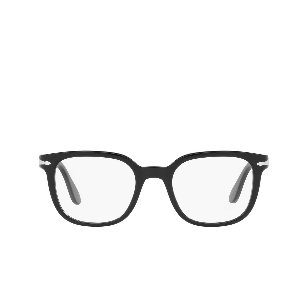 Persol® Square Eyeglasses: PO3263V color Black 95 - front view.