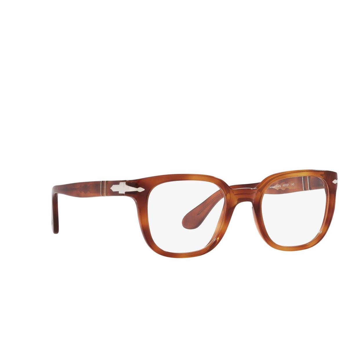 Persol® Square Eyeglasses: PO3263V color Terra Di Siena 96 - three-quarters view.