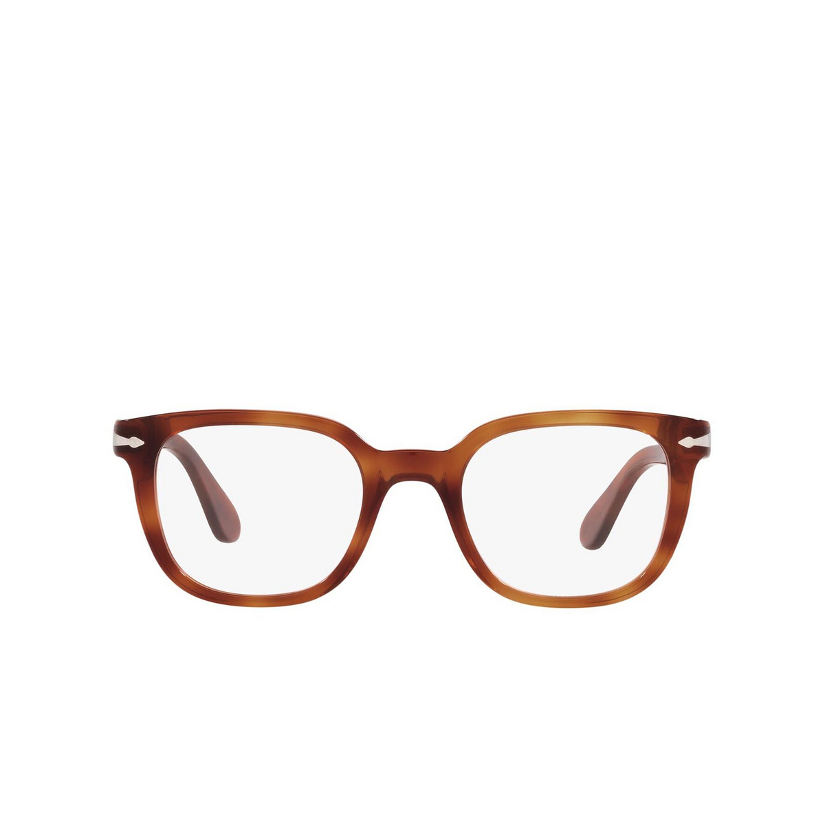 Persol® Square Eyeglasses: PO3263V color Terra Di Siena 96 - front view.