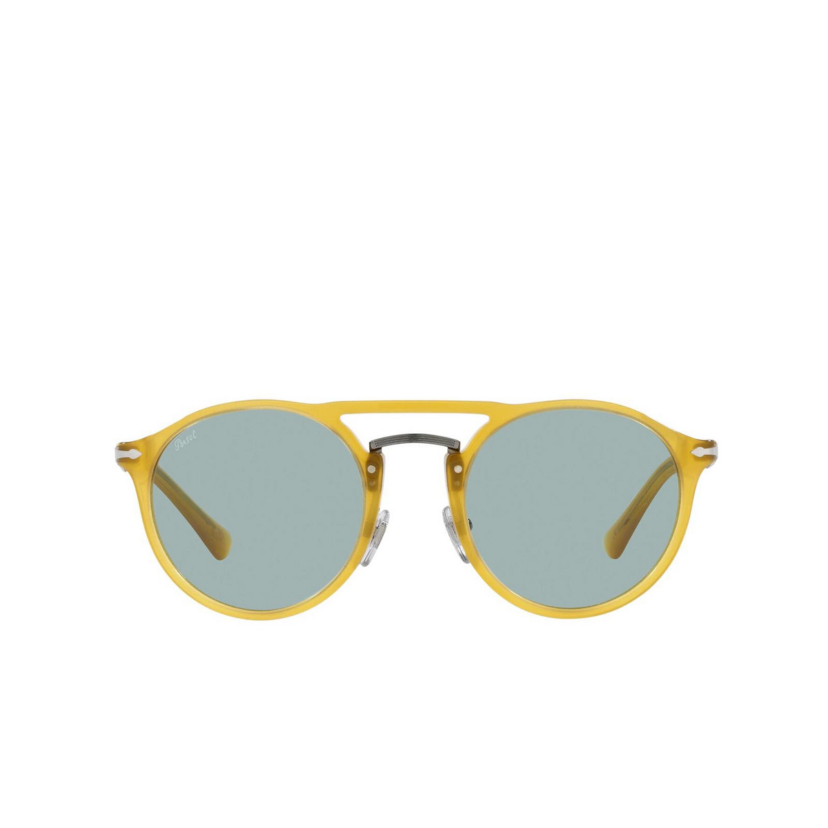 Persol® Round Sunglasses: PO3264S color Honey 204/56 - front view.