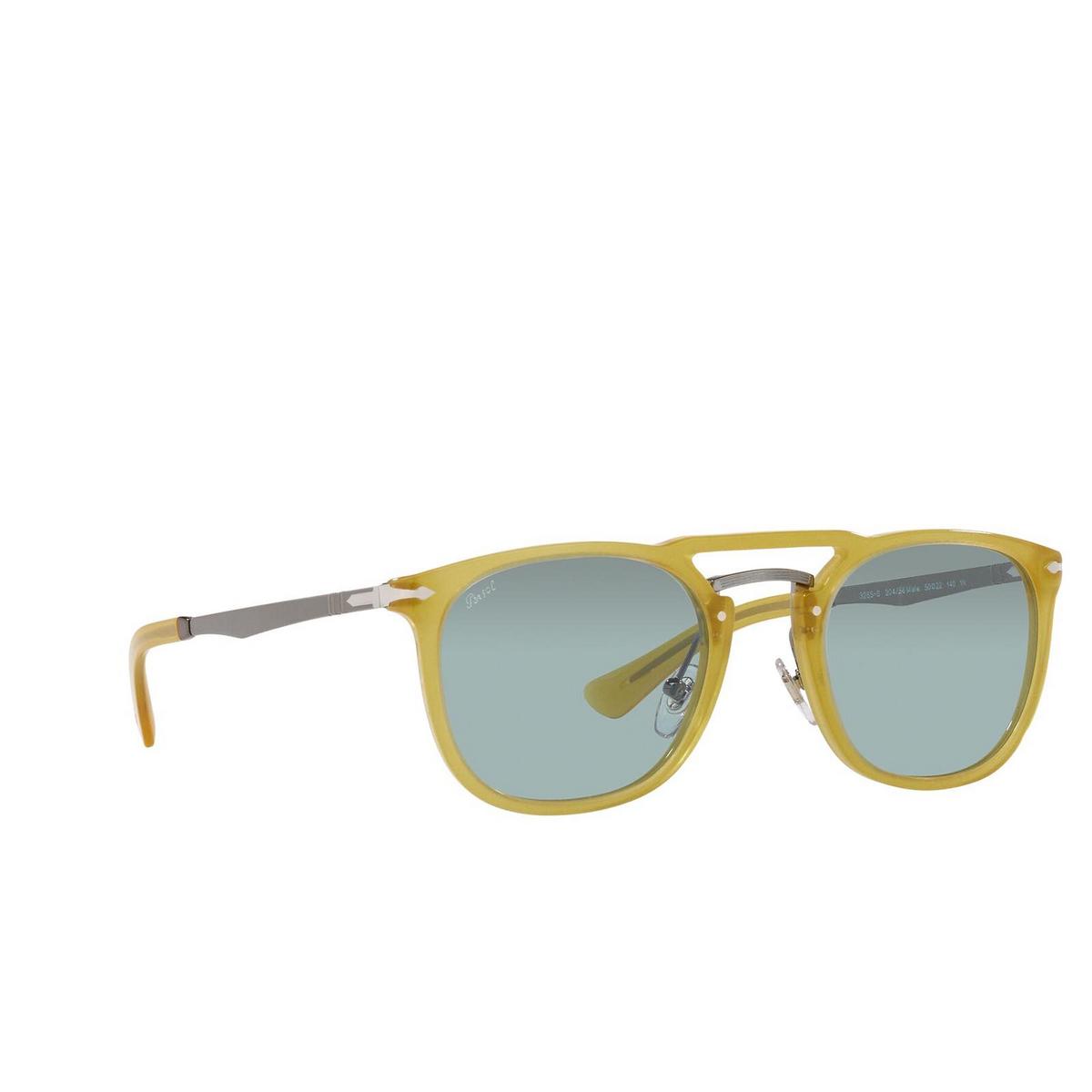 Persol® Square Sunglasses: PO3265S color Honey 204/56.