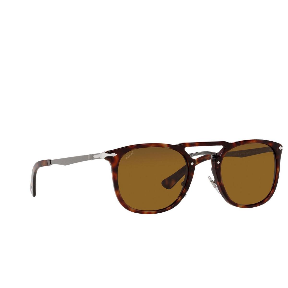 Persol® Square Sunglasses: PO3265S color Havana & Gunmetal 24/33.