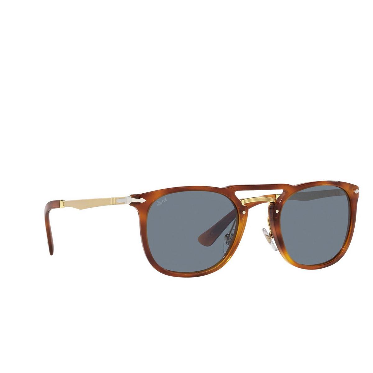 Persol® Square Sunglasses: PO3265S color Terra Di Siena 96/56 - three-quarters view.