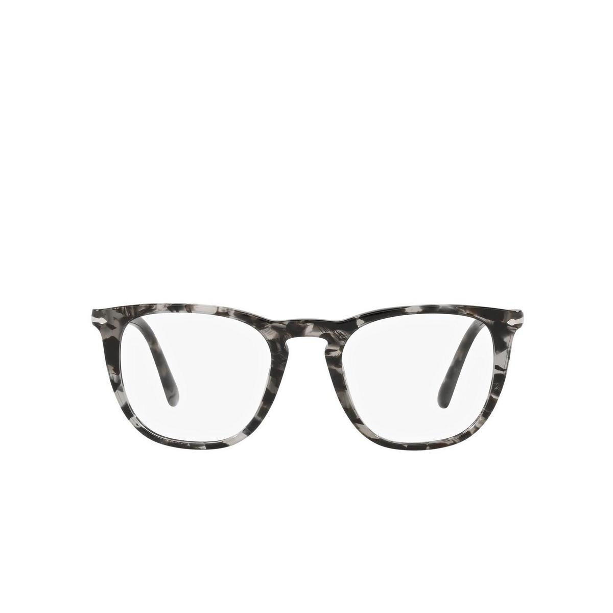 Persol® Square Eyeglasses: PO3266V color Grey Havana 1080 - front view.