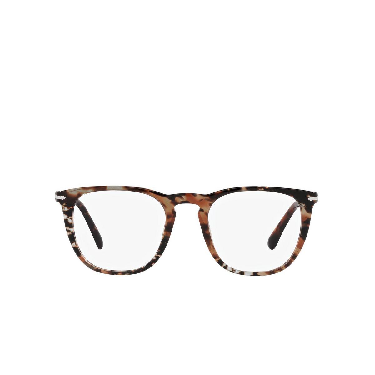 Persol® Square Eyeglasses: PO3266V color Havana 1081 - front view.