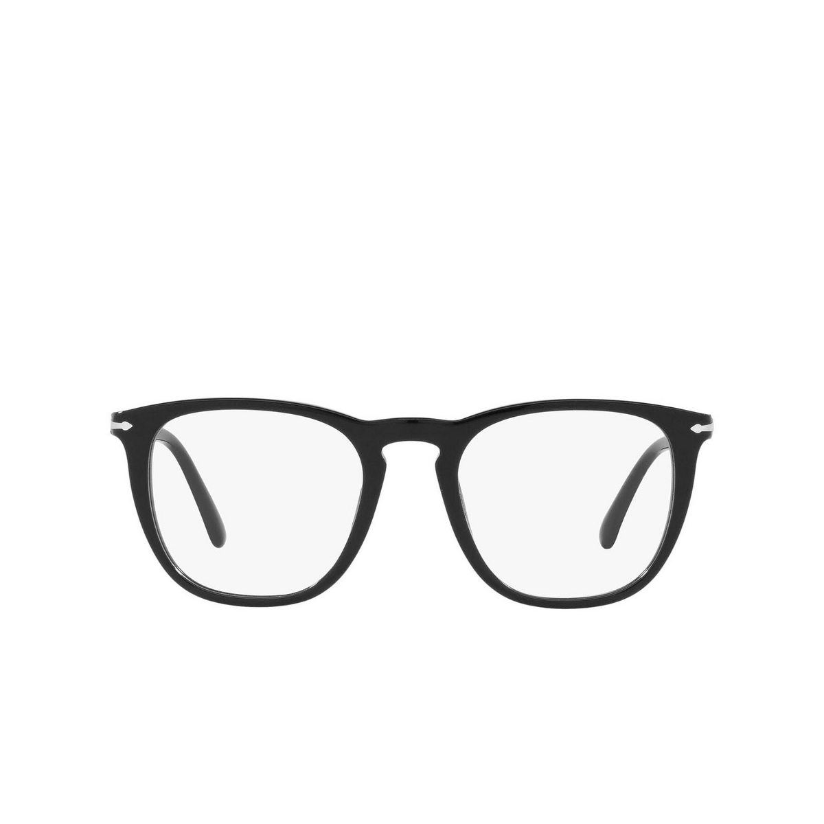 Persol® Square Eyeglasses: PO3266V color Black 95 - front view.