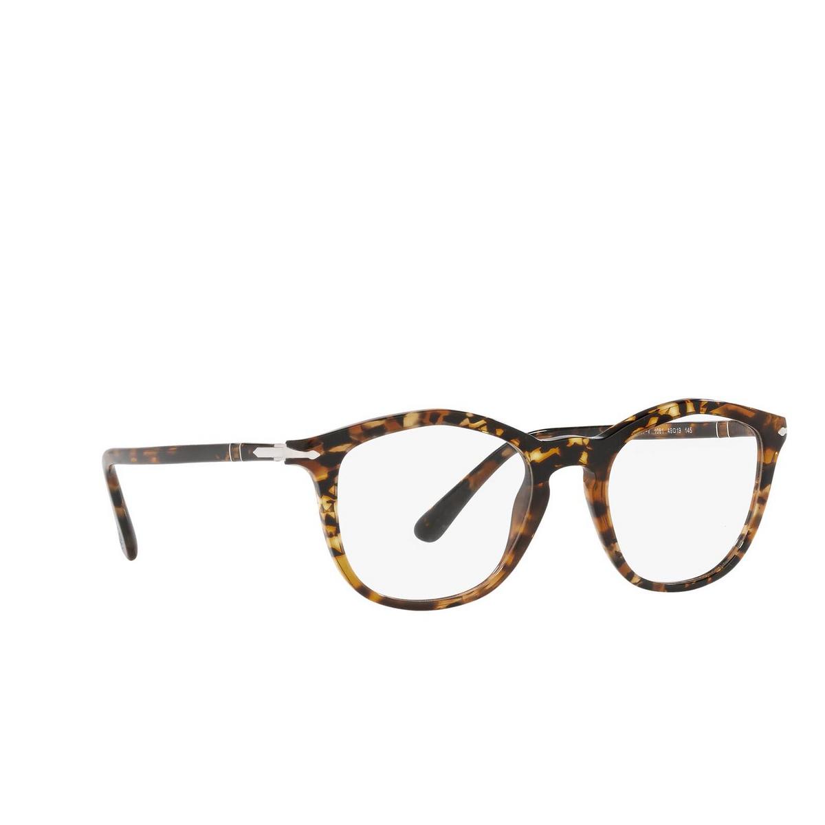Persol® Irregular Eyeglasses: PO3267V color Tortoise Brown 1081 - three-quarters view.