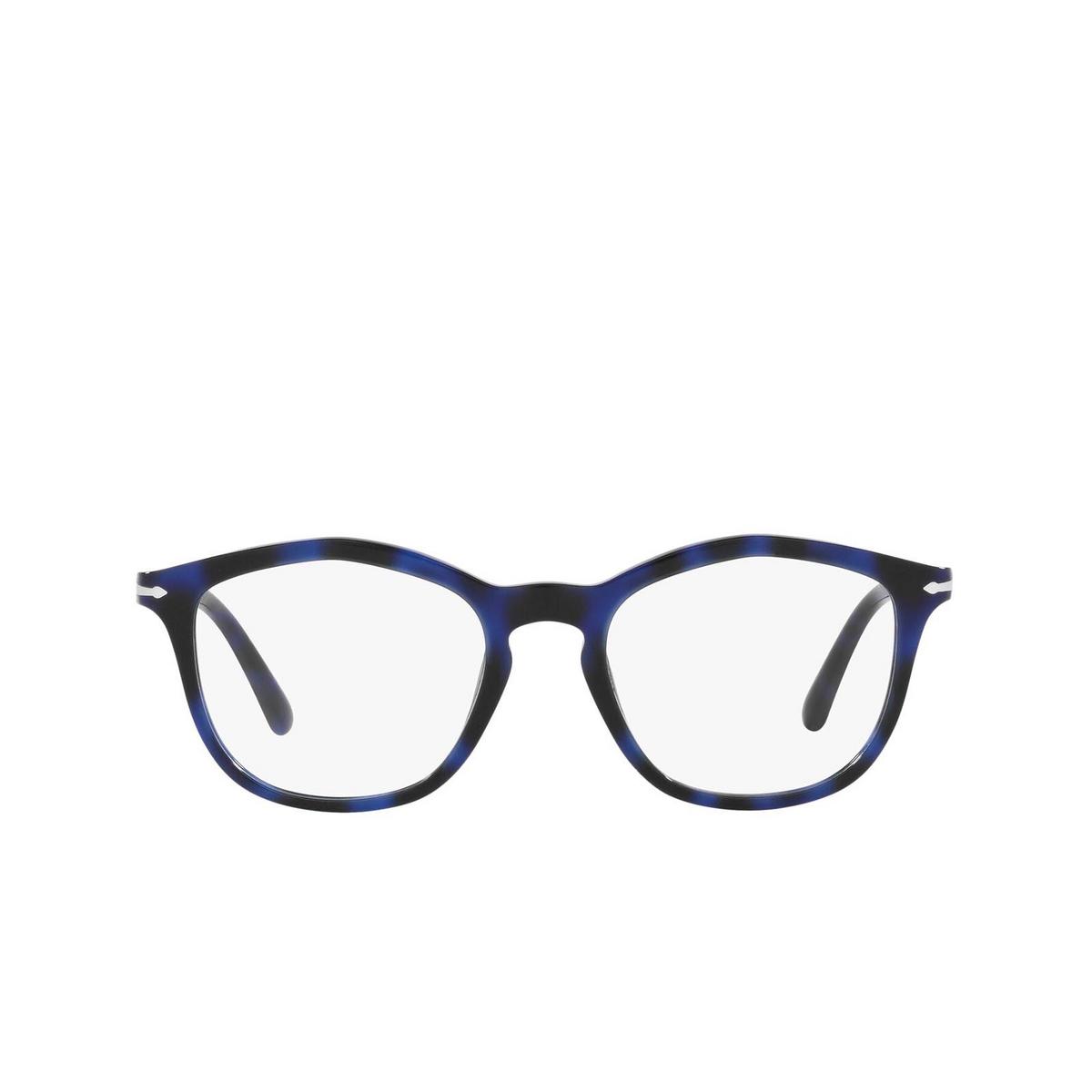 Persol® Irregular Eyeglasses: PO3267V color Spotted Blue 1099 - front view.