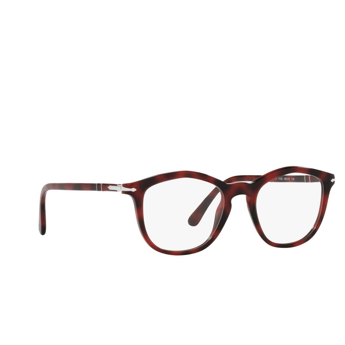 Persol® Irregular Eyeglasses: PO3267V color Red 1100 - three-quarters view.