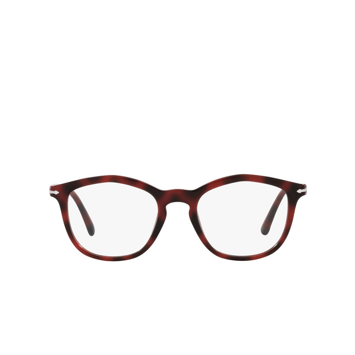 Persol® Irregular Eyeglasses: PO3267V color Red 1100 - front view.