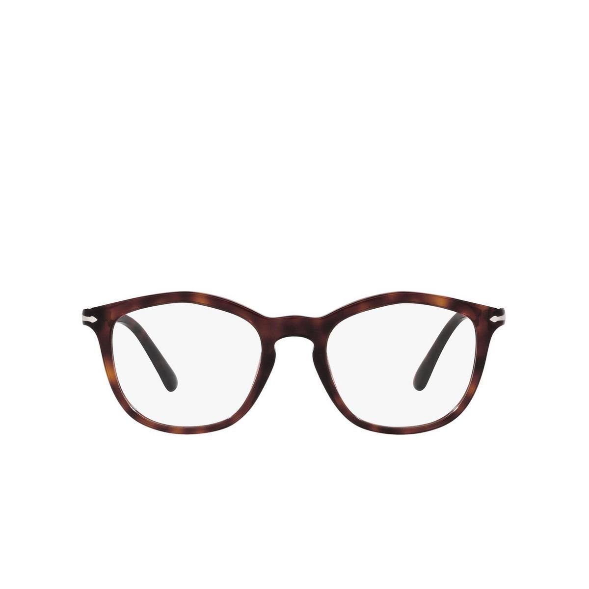 Persol® Irregular Eyeglasses: PO3267V color Havana 24 - front view.