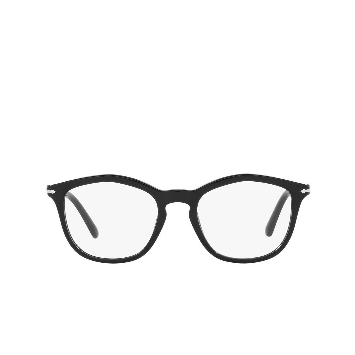 Persol® Irregular Eyeglasses: PO3267V color Black 95 - front view.
