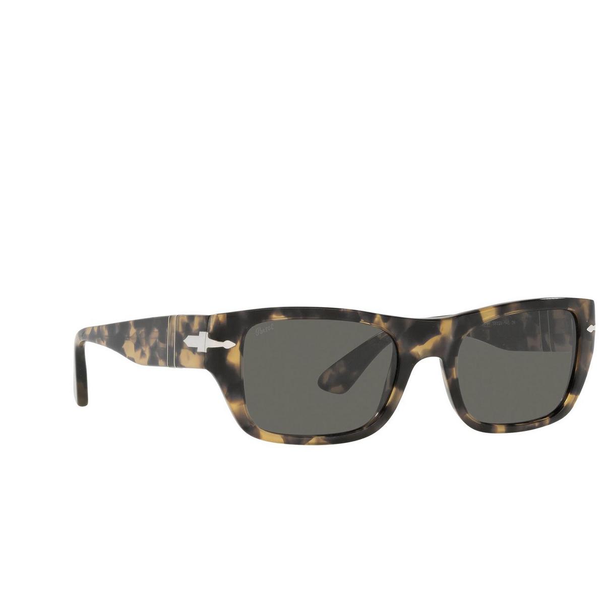 Persol® Rectangle Sunglasses: PO3268S color Brown / Tortoise Beige 1056B1 - three-quarters view.